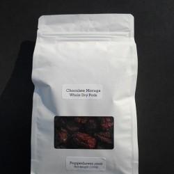 Chocolate Moruga Scorpion Dry Pods (150g)